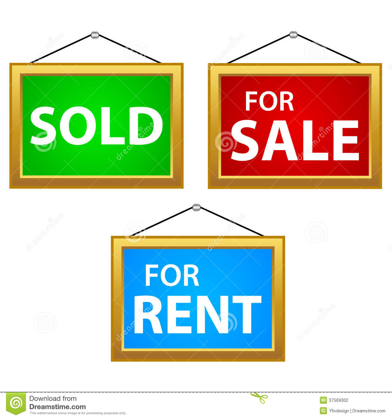 Property Signs Stock Photography - Image: 37569302
