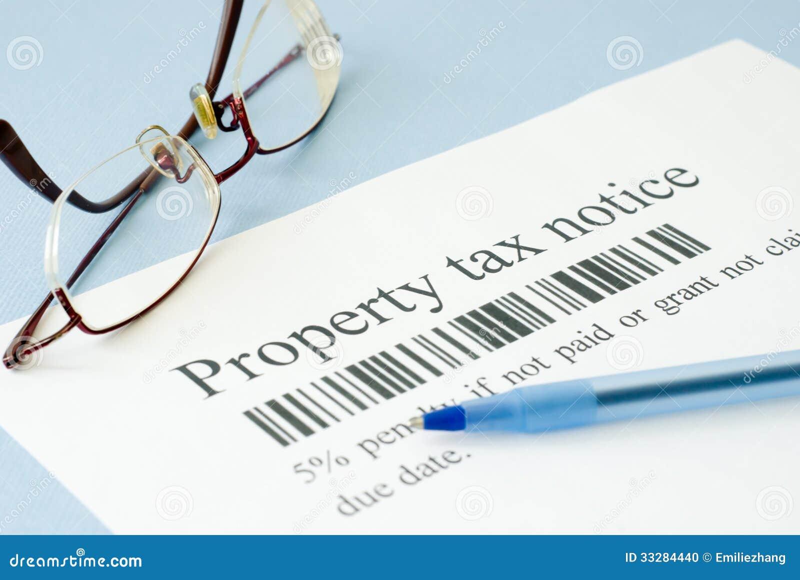 Property Tax Notice Stock Photo - Image: 33284440