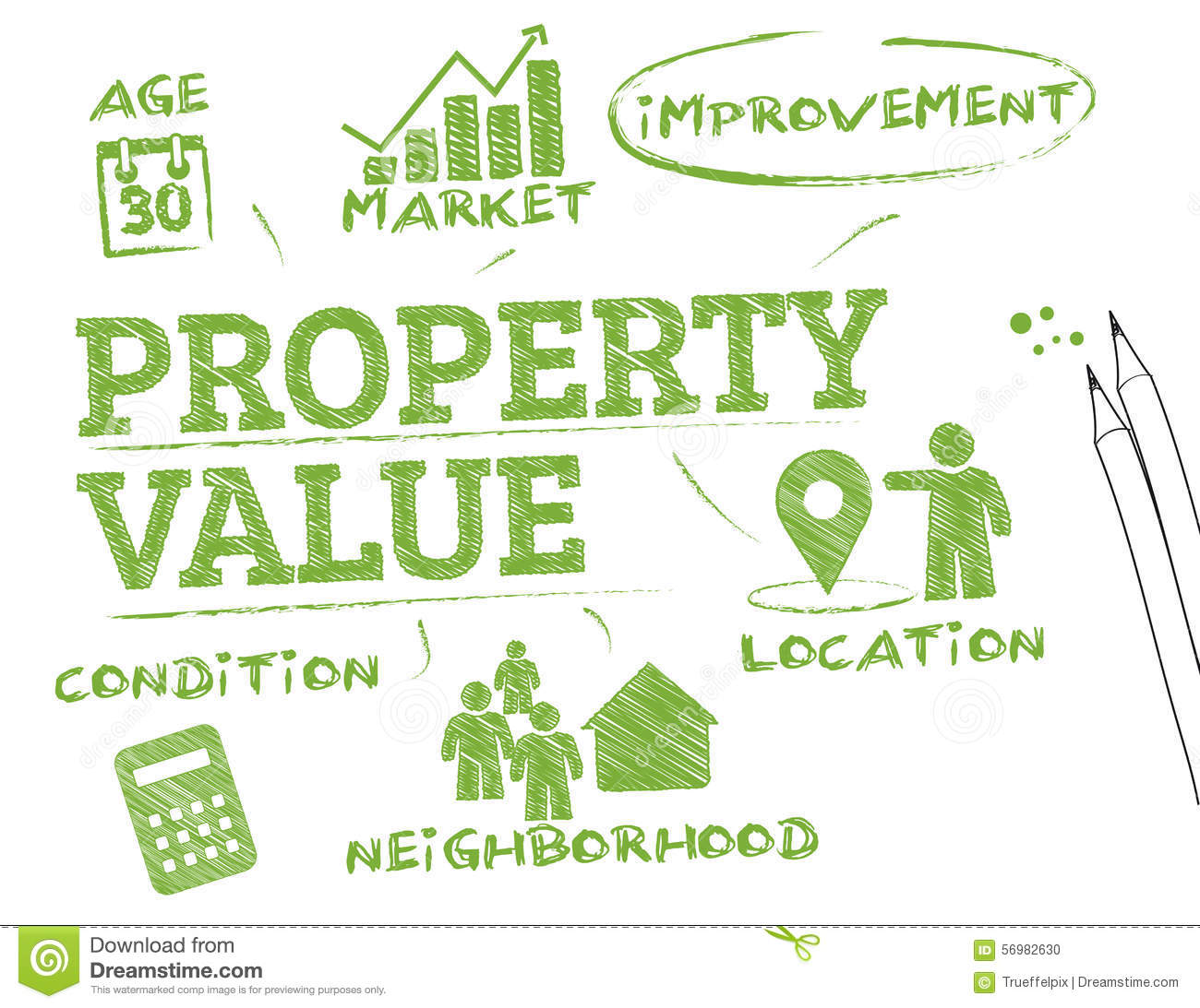 Best Value Home Improvements: Property Value Stock Photo