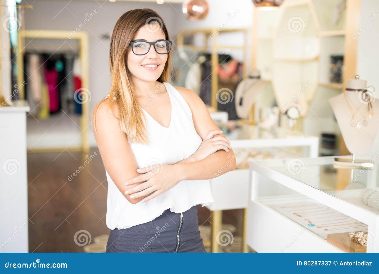 Propietario de negocio de una tienda de la moda