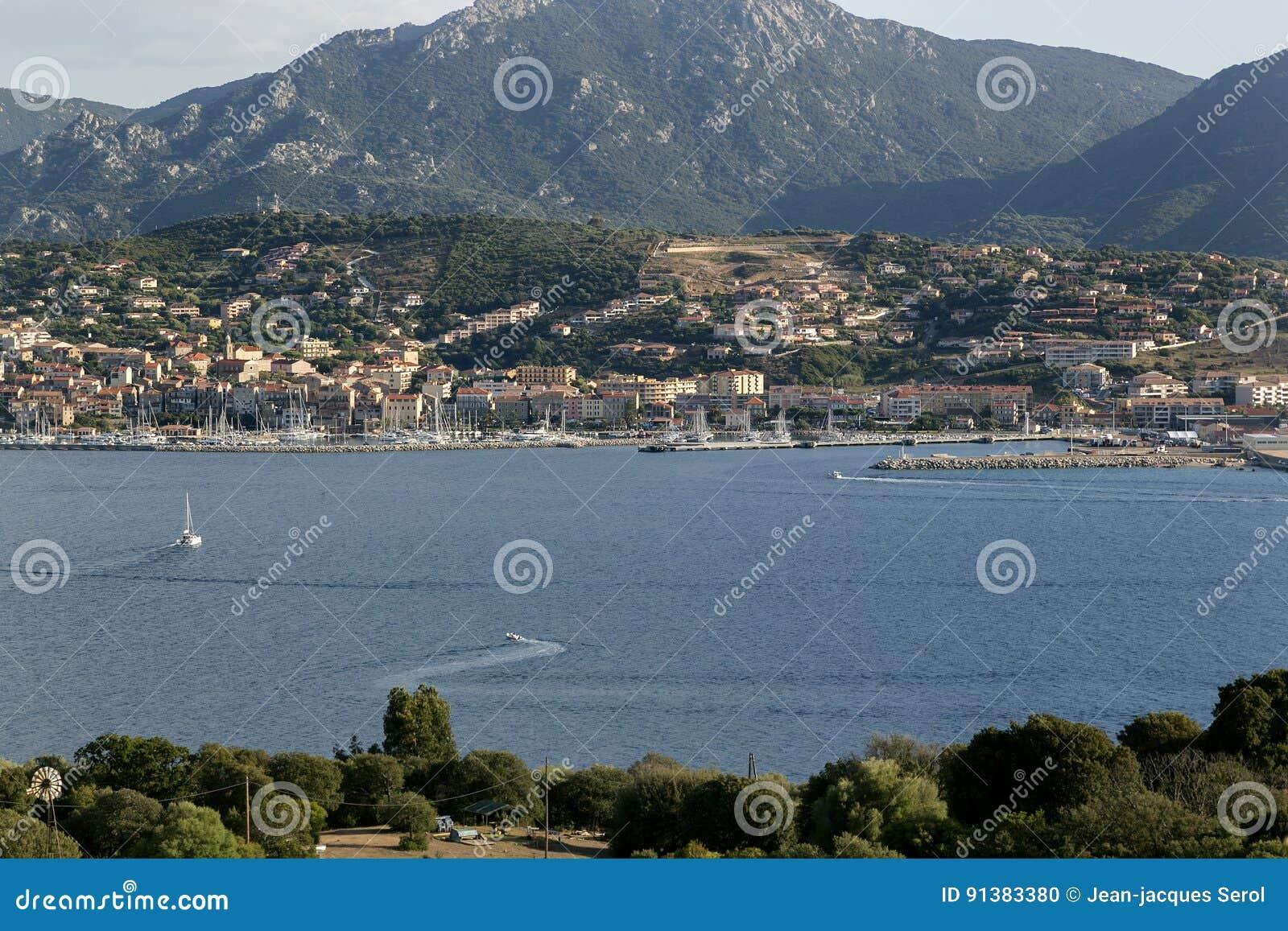 Propriano, wybrzeże zachód Corsica, Francja