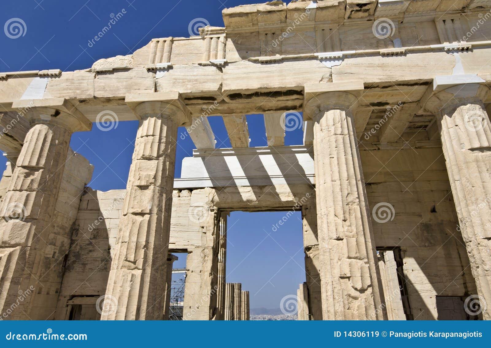 Propylaea At The Acropolis Of Athens Royalty Free Stock ...