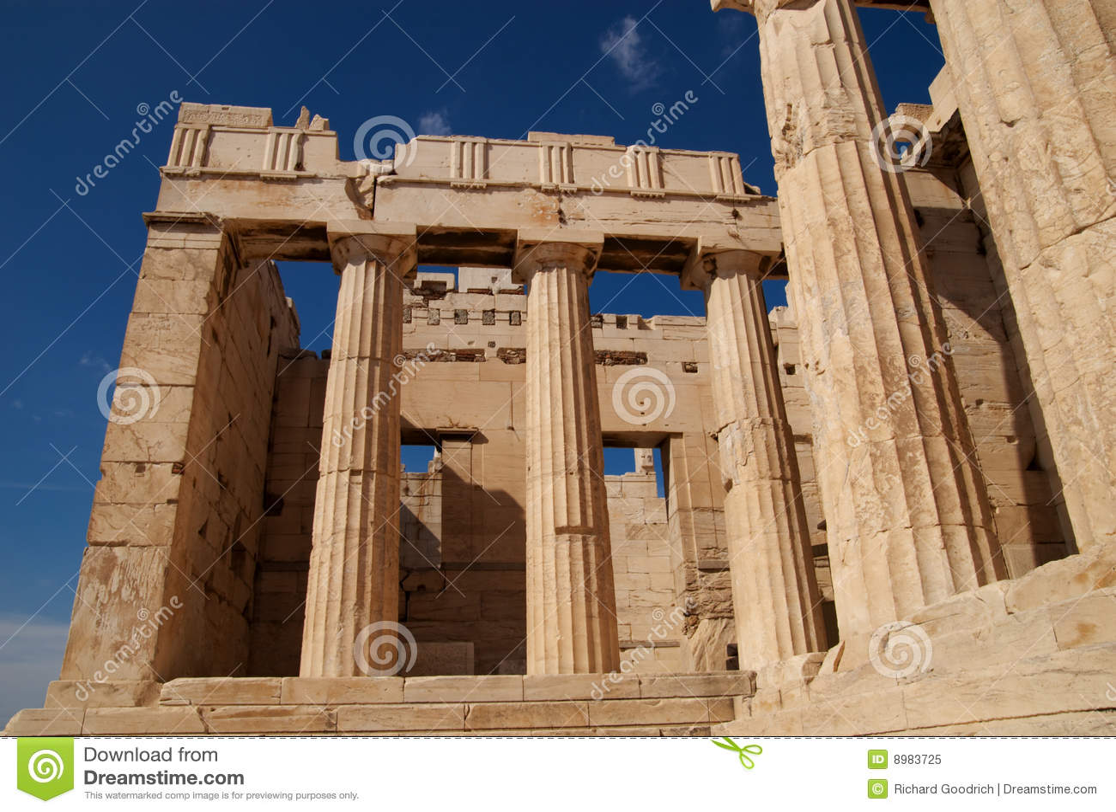 Propylaea, Athens, Greece Royalty Free Stock Photo - Image ...