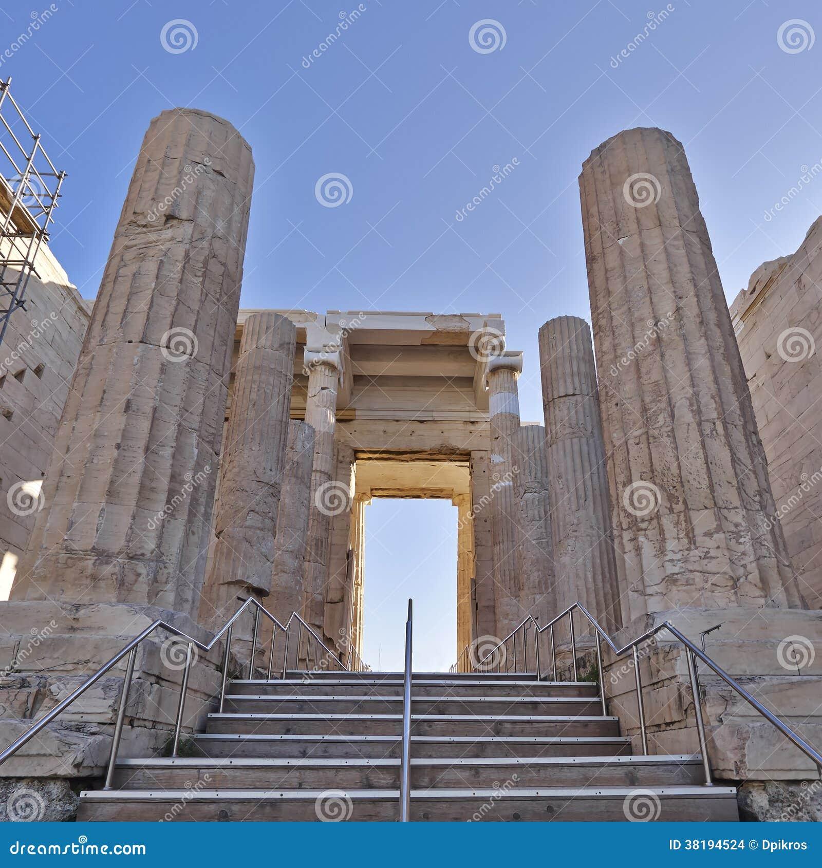 Propylaea, The Monumental Entrance Of Acropolis, Greece ...
