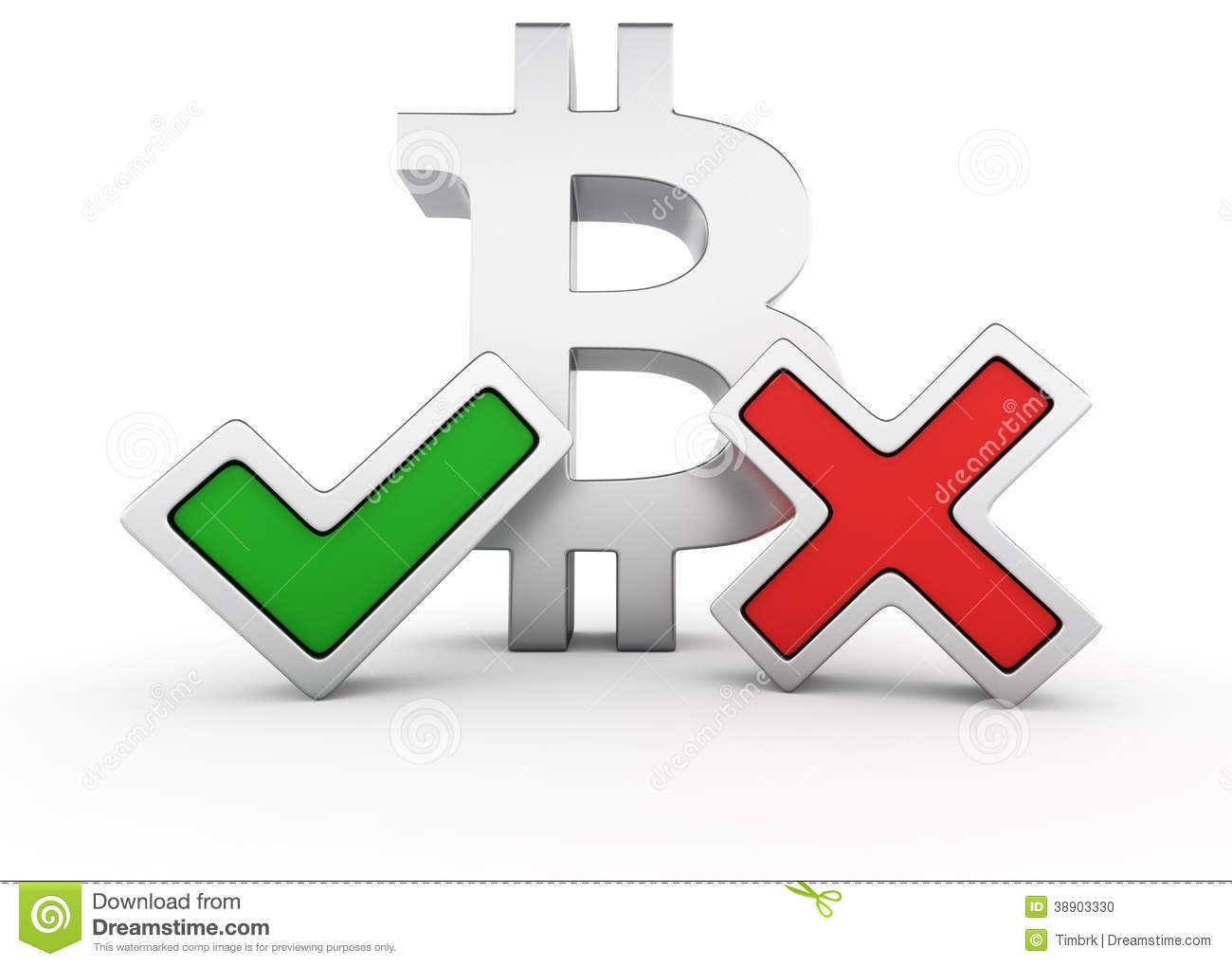 The Pros And Cons Of Bitcoin Stock Illustration - Image ...