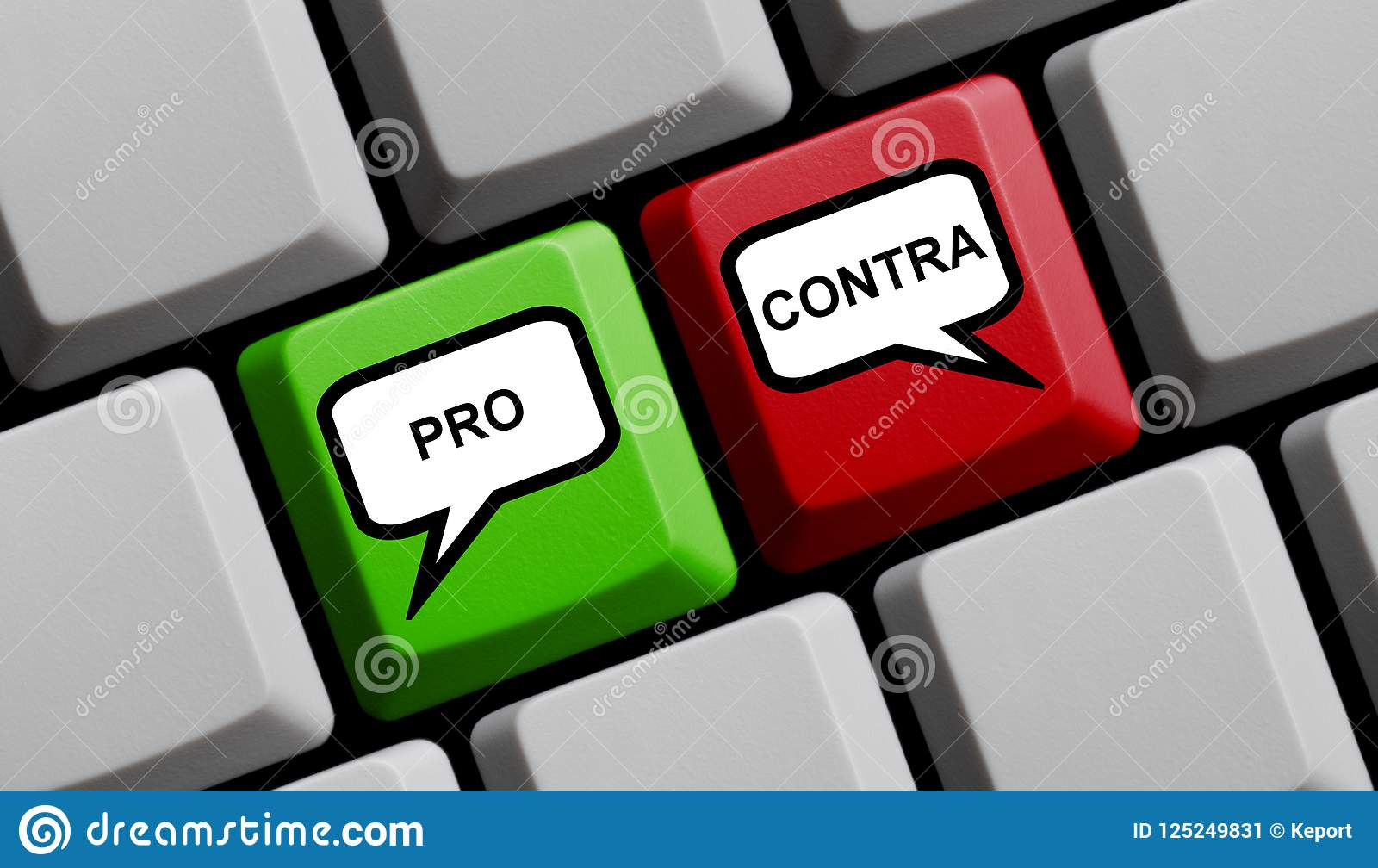 Pros And Cons German   Computer Keyboard Stock Image   Image of
