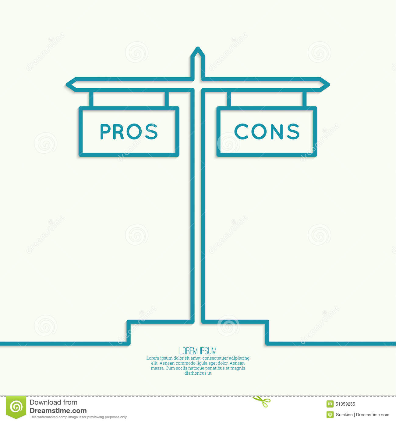 Pros And Cons List Stock Vector Illustration Of Concepts 51359265