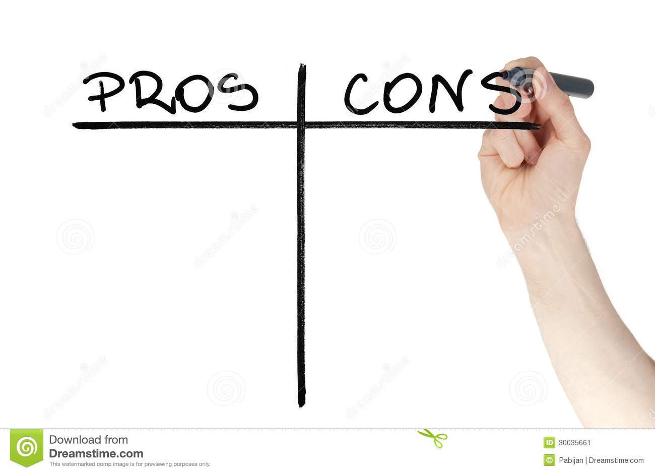 pros and cons on whiteboard stock photos image  pros and cons table drawn on a glass by felt tip pen stock image