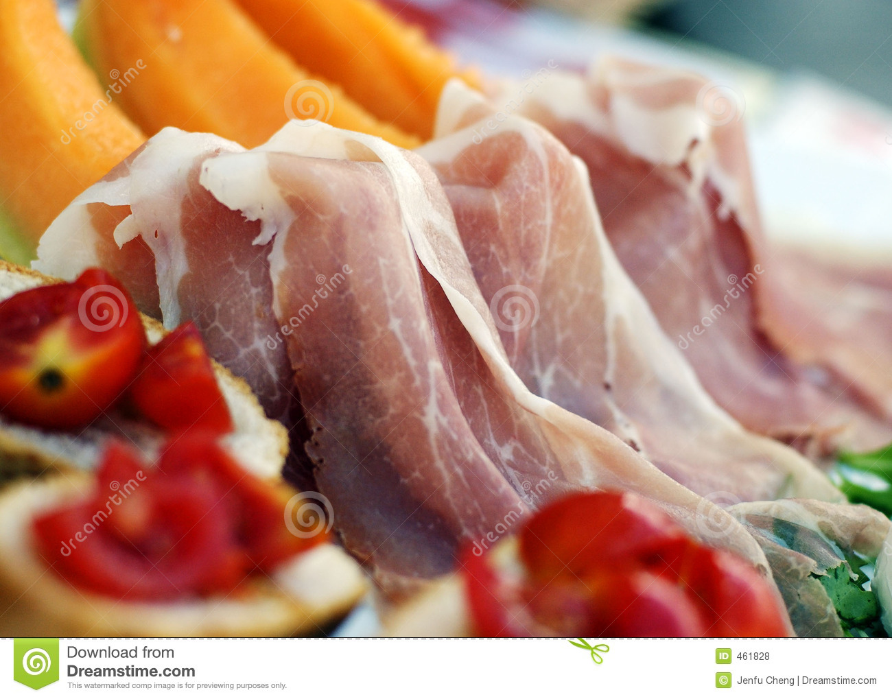 Download Prosciutto stock photo. Image of party, italy, food, breakfast - 461828