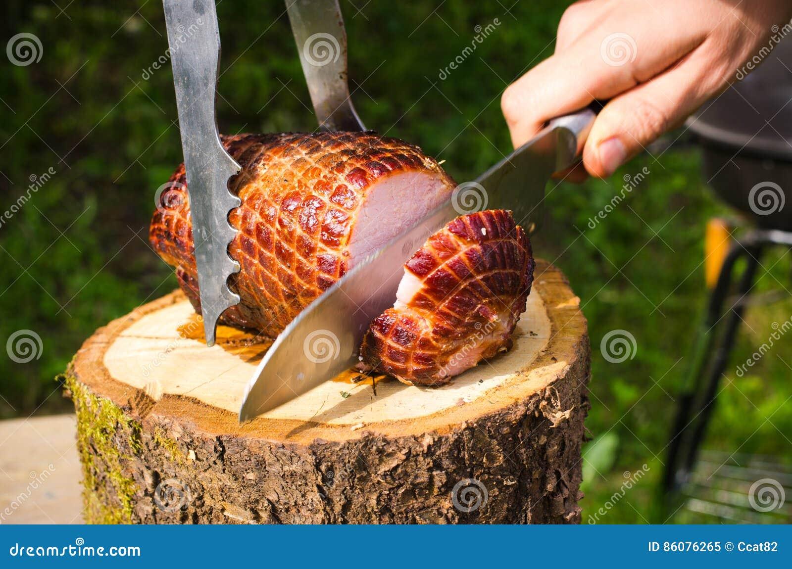 Prosciutto della carne di maiale al forno sul bbq