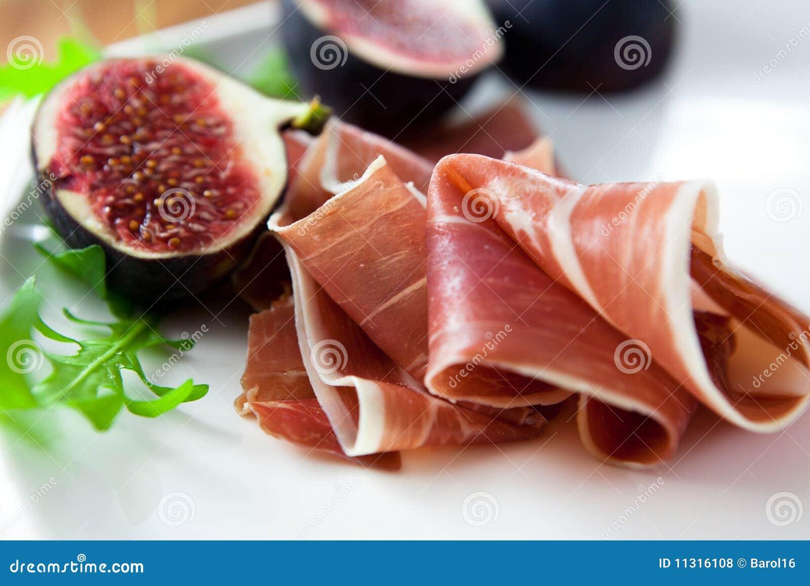 Prosciutto with fresh figs