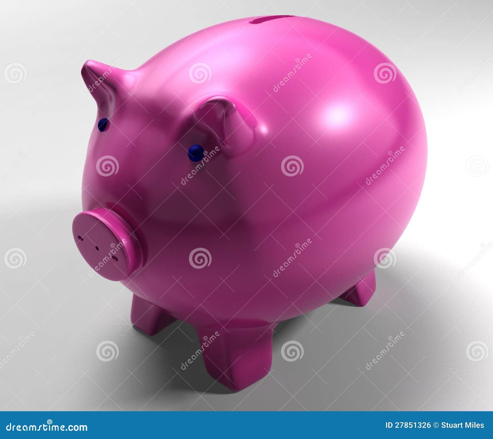 Prosiątko Bank Pokazywać Oszczędzań Konta
