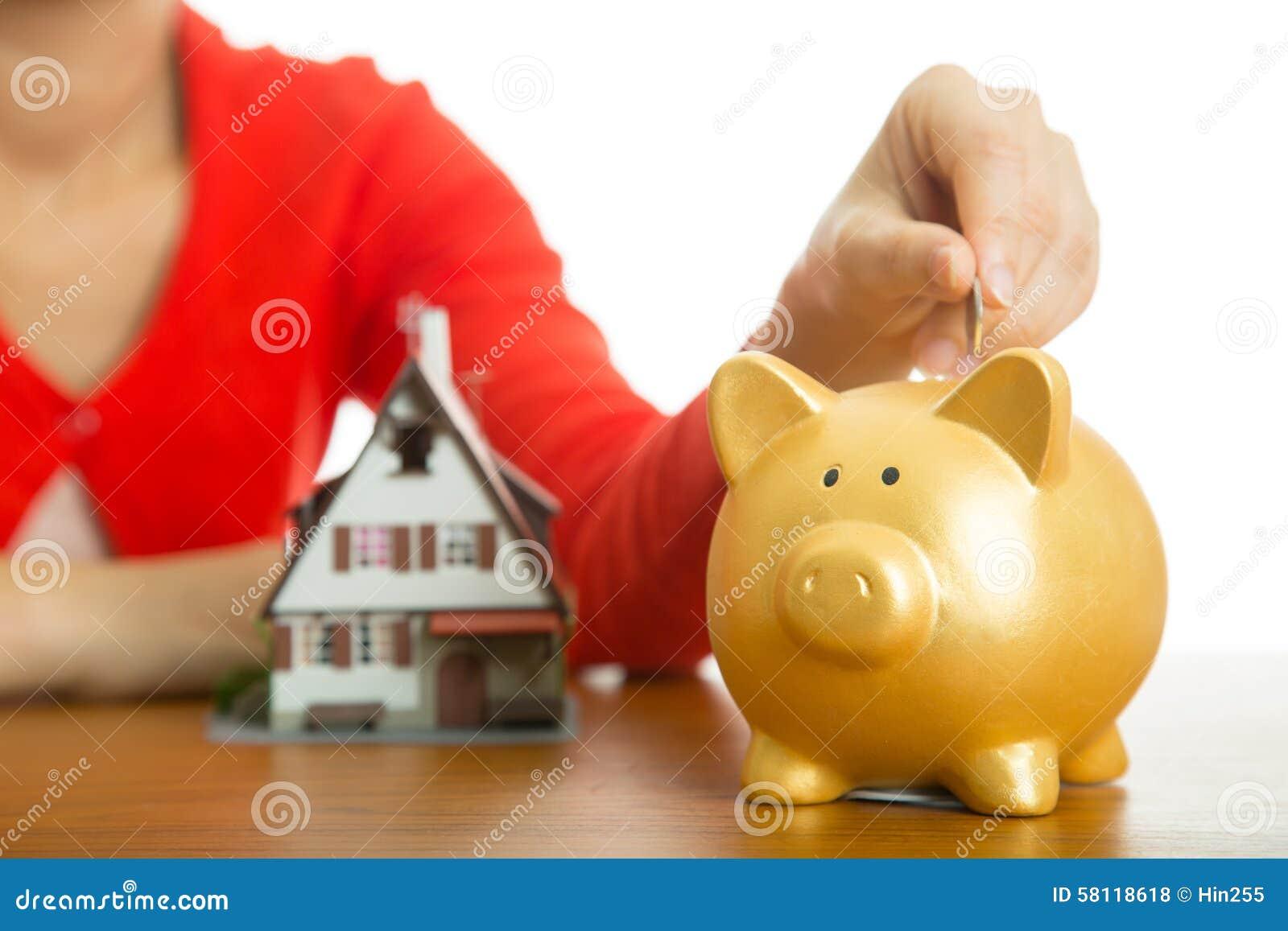 Prosiątko bank wzrasta twój finansowego dorośnięcie dla zakupu modela domu