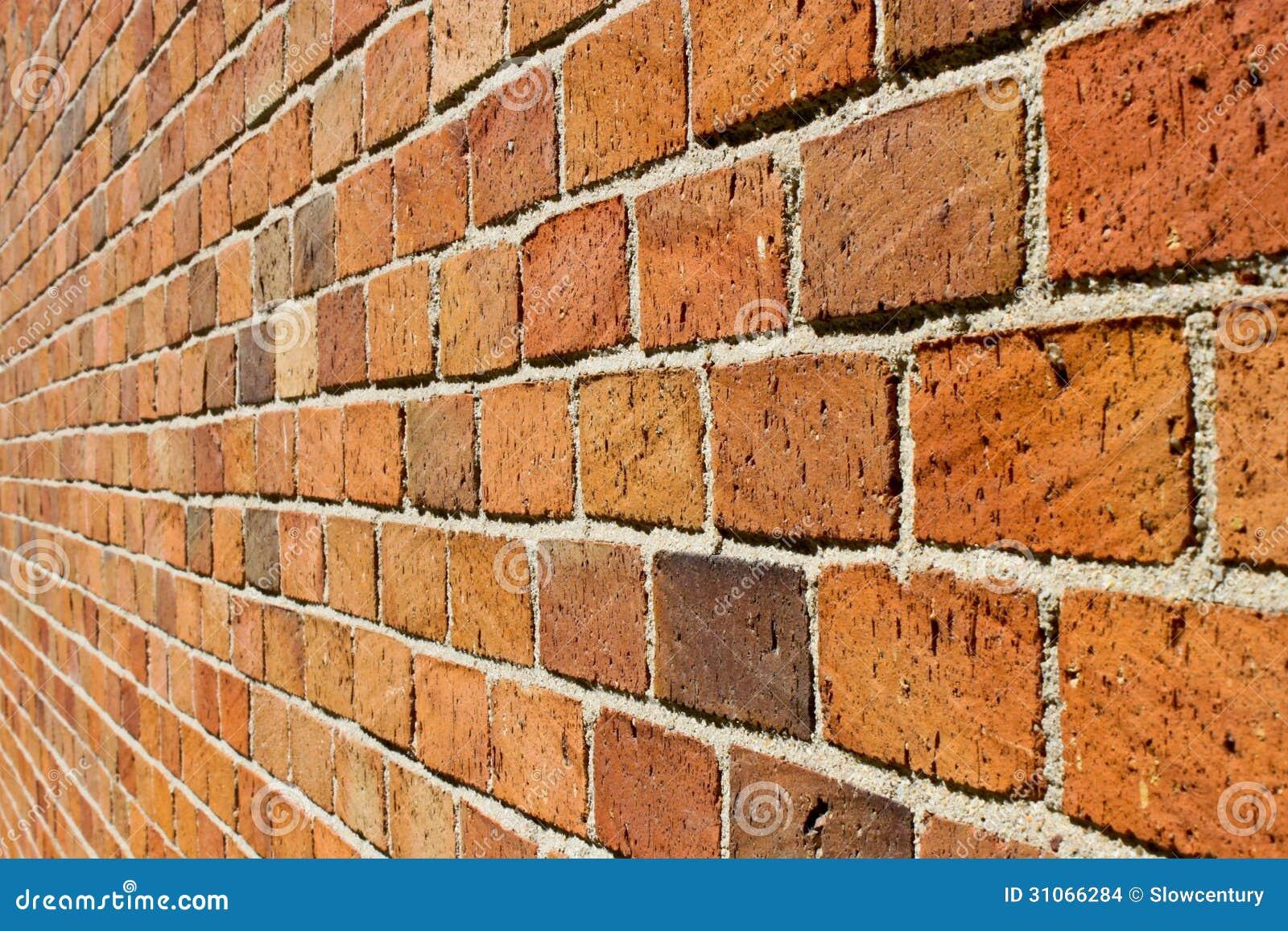 Prospettiva di un muro di mattoni fotografia stock for Disegni di garage di mattoni