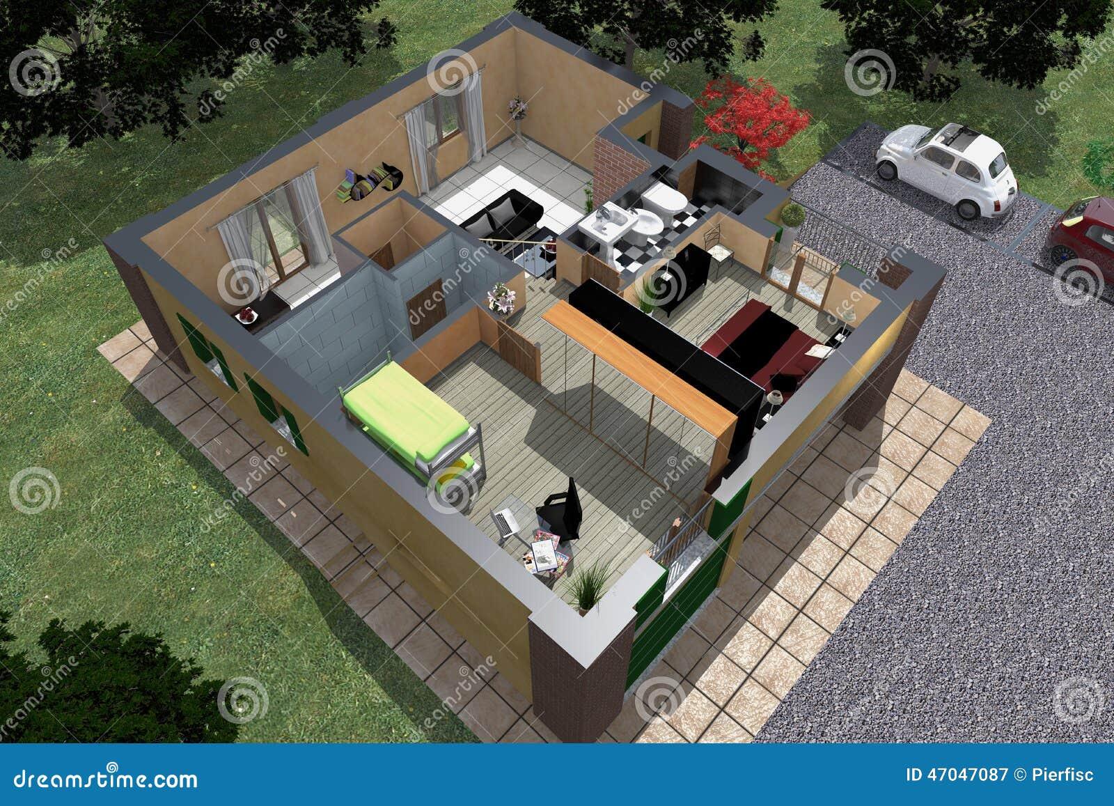 Prospettiva esplosa fotografia editoriale immagine 47047087 for Piani di progettazione domestica con foto