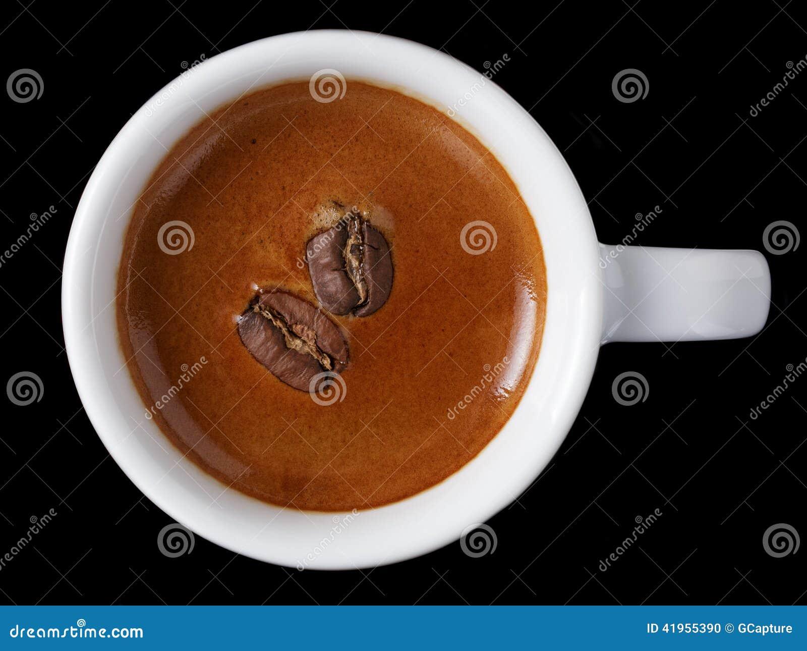 Prosta fili?anka ?wie?o robi? dwoista kawa espresso