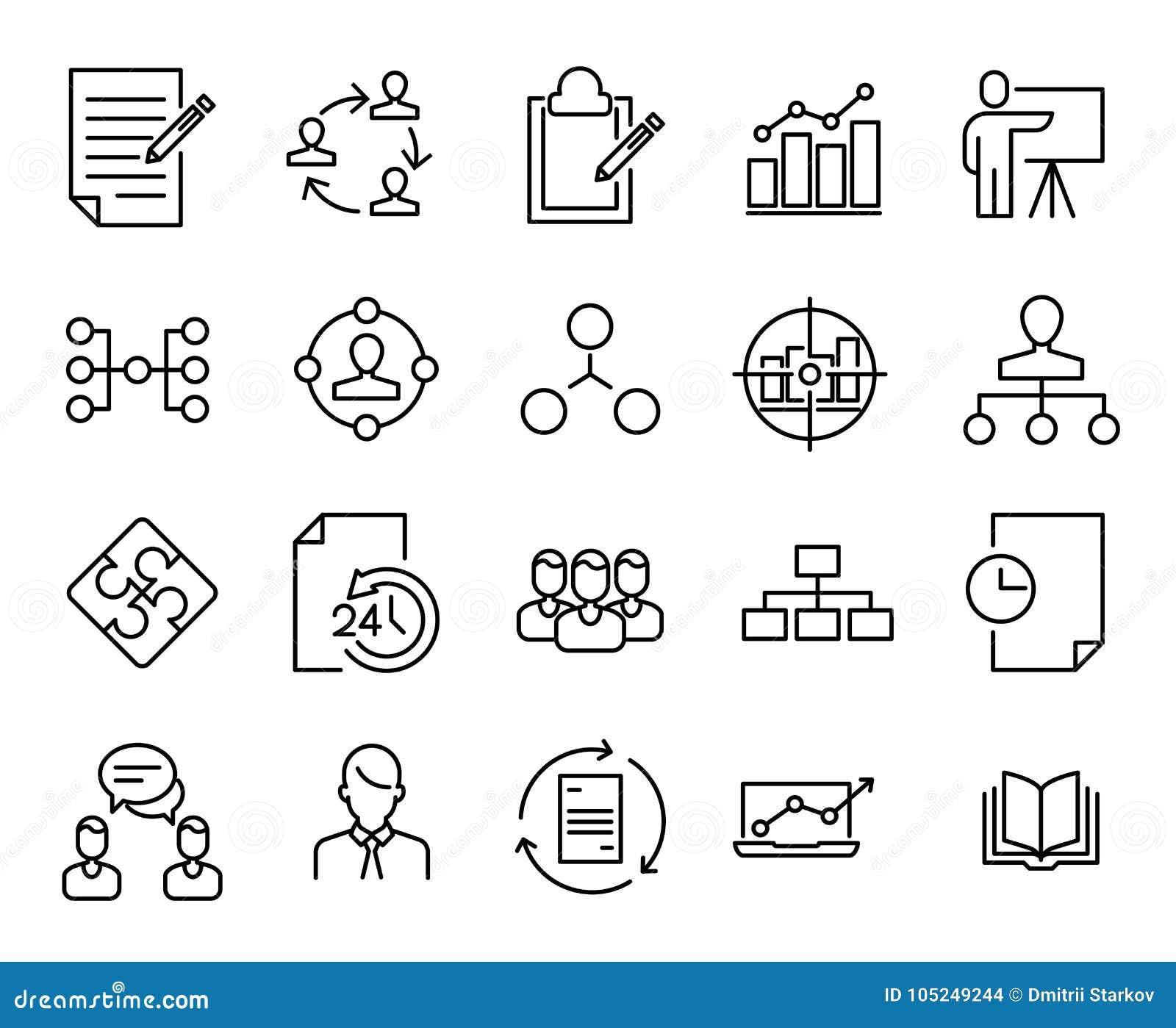 Prosta kolekcja młyn obrotne powiązane kreskowe ikony