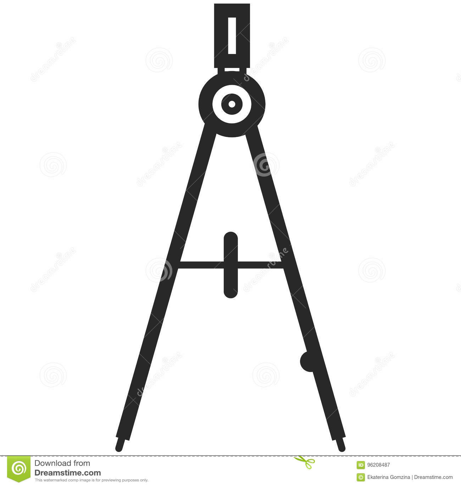 Prosta Wektorowa ikona klasyczni kompasy w kreskowej sztuki stylu Piksel Perfect Podstawowe wykształcenie element