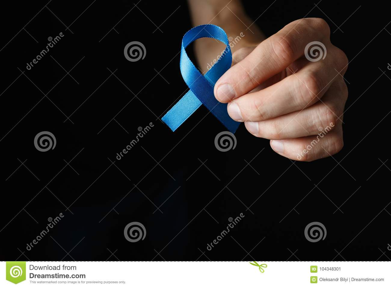 Prostate Cancer Ribbon Colon Cancer Concept Blue Ribbon Stock Image Image Of Doctor Cancer 104348301
