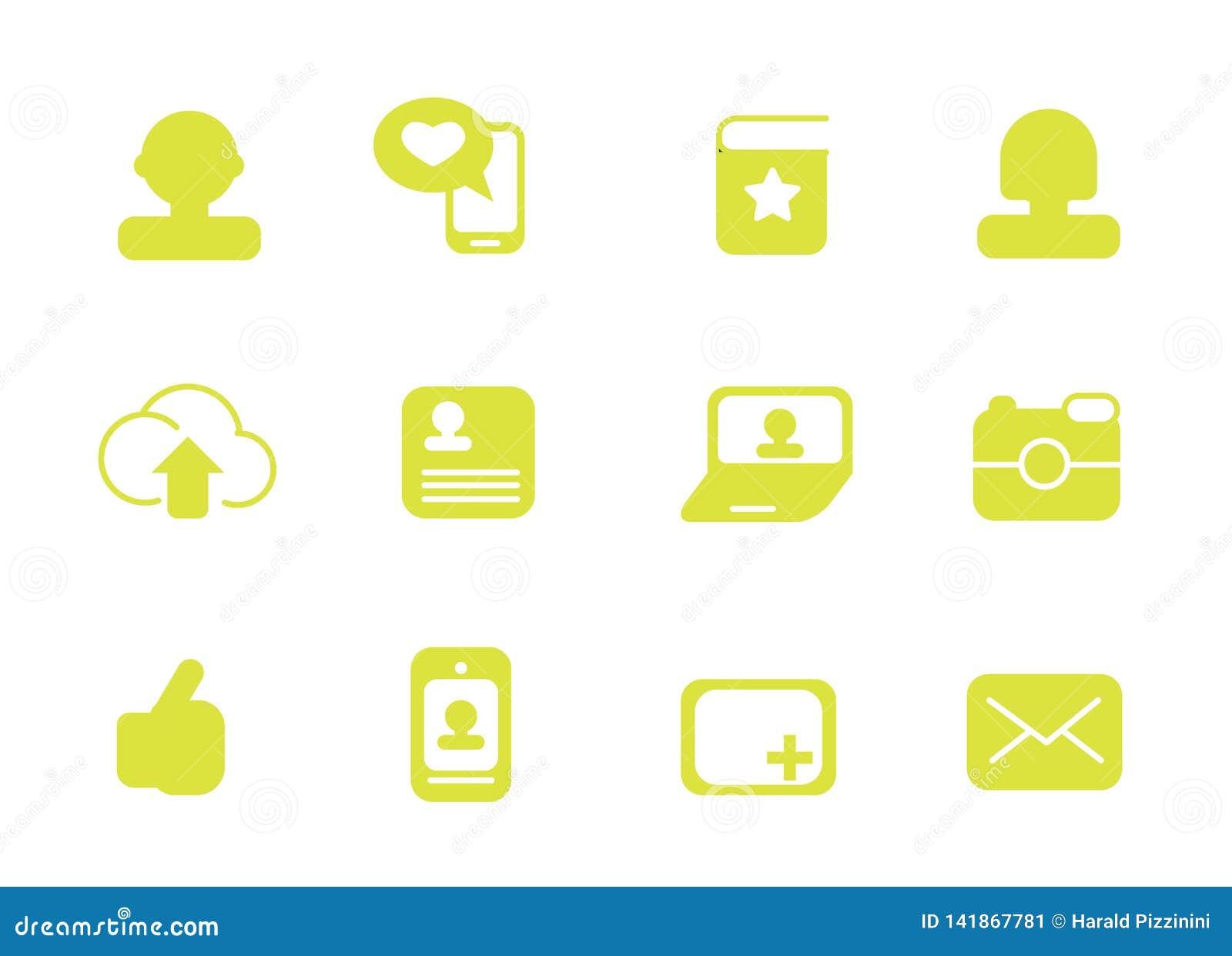 Proste ikony dla sieci używają