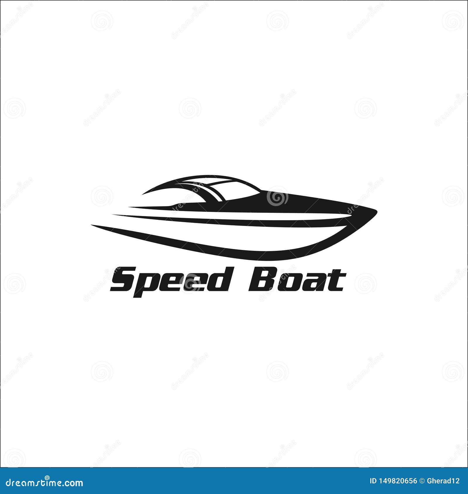 Proste prędkości łodzi ilustracje