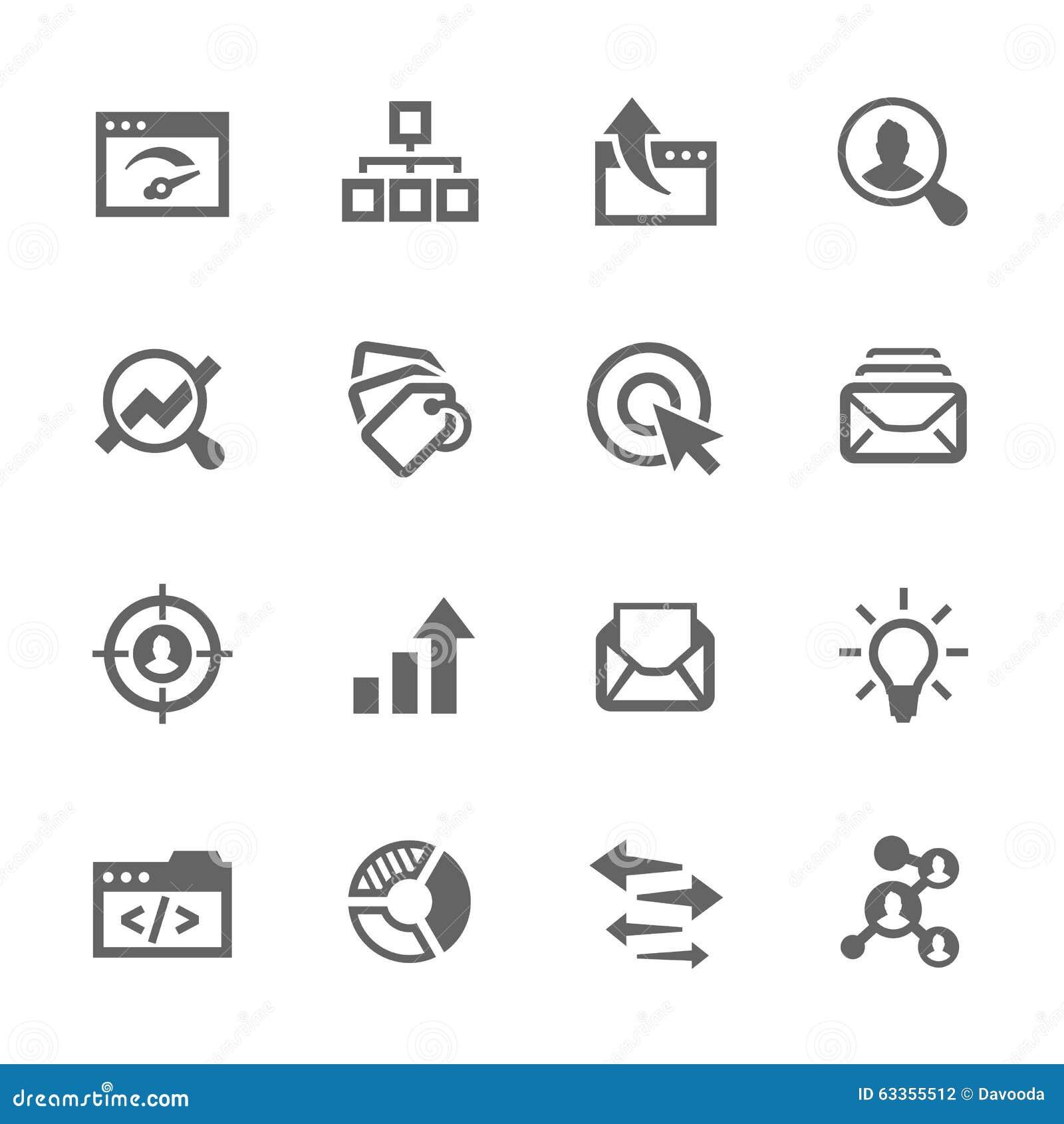 Proste SEO ikony