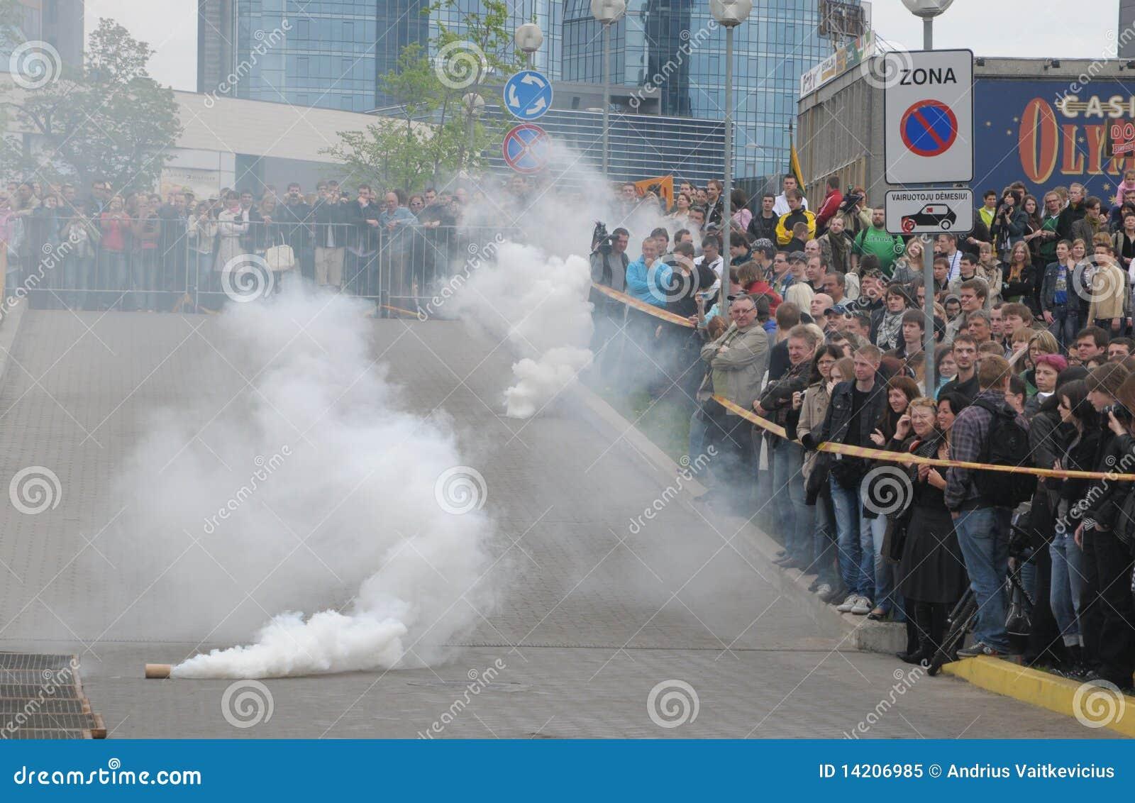 First gay pride parade of Lithuania. Vilnius, Lithuania