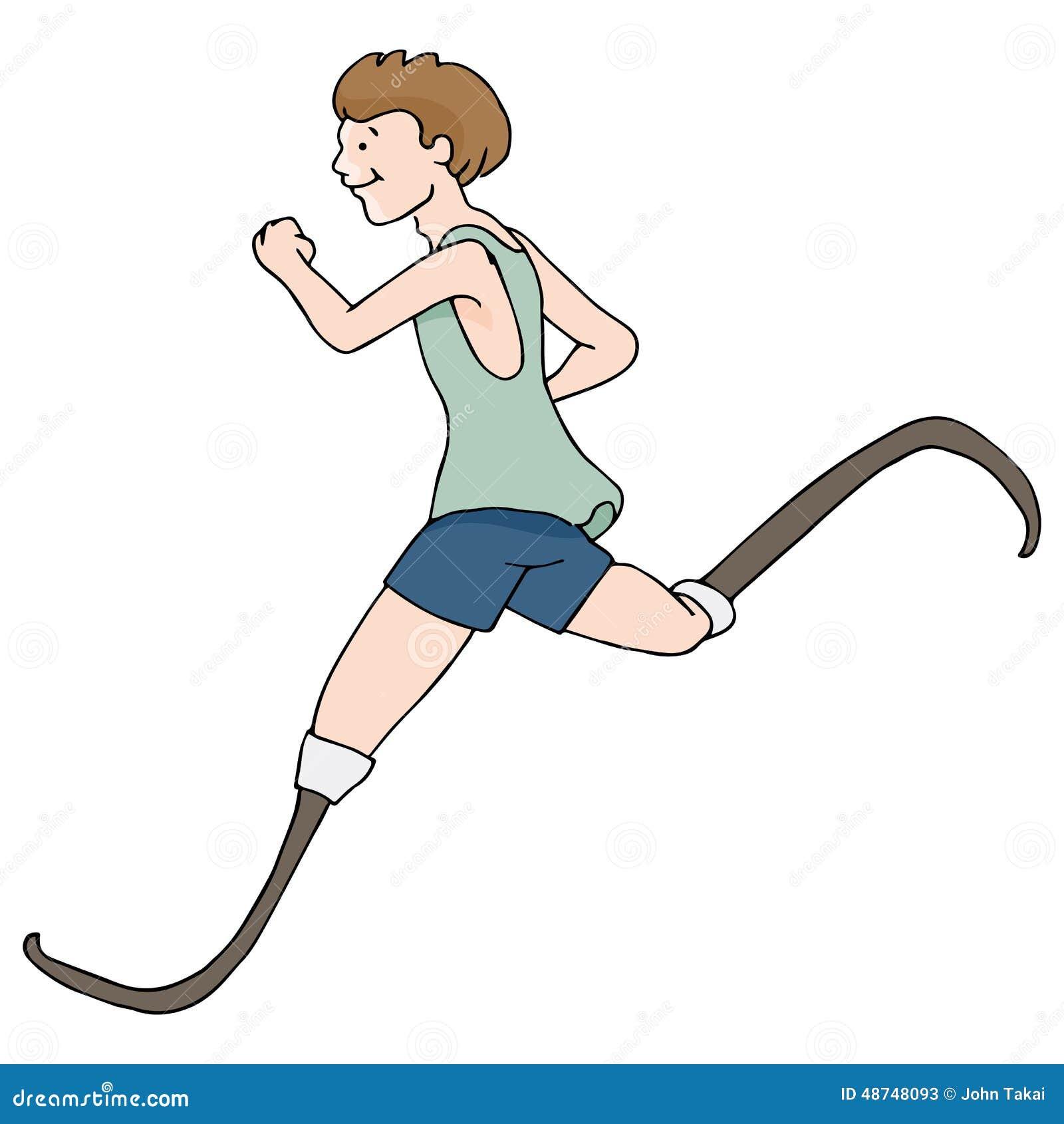 prosthetic legged runner stock vector image 48748093 foot outline clip art football helmet outline clip art