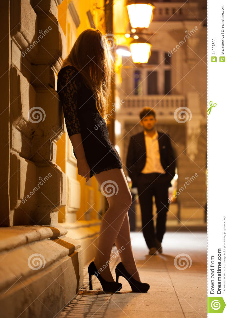 Prostitute Waiting For Client Stock Photo Image 44987503