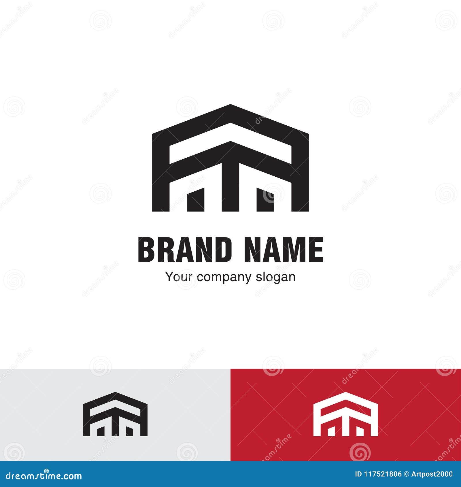 Prosty linia domu logo