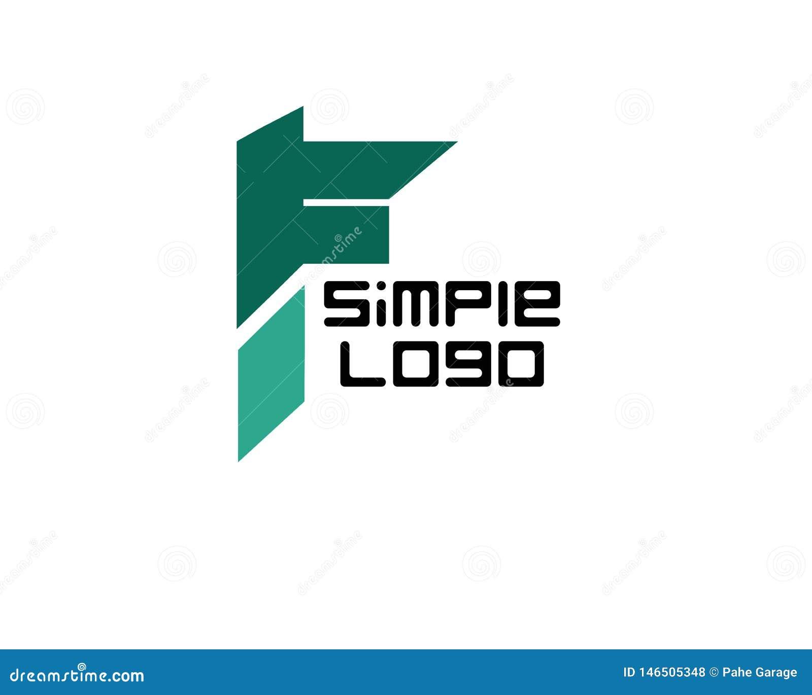 Prosty logo ikonowy dla firmy lub biznesu