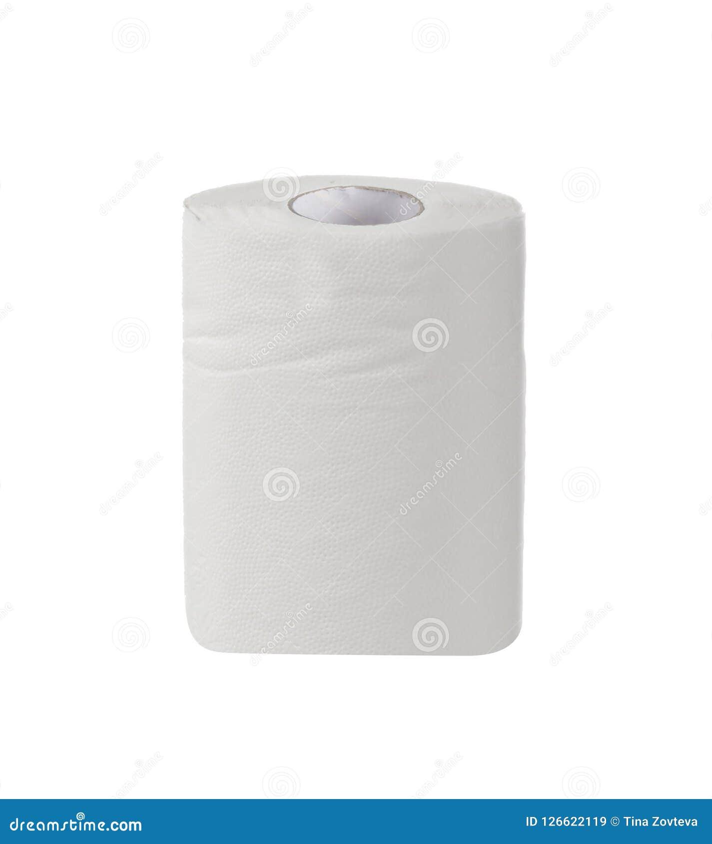 Prosty papier toaletowy na bielu
