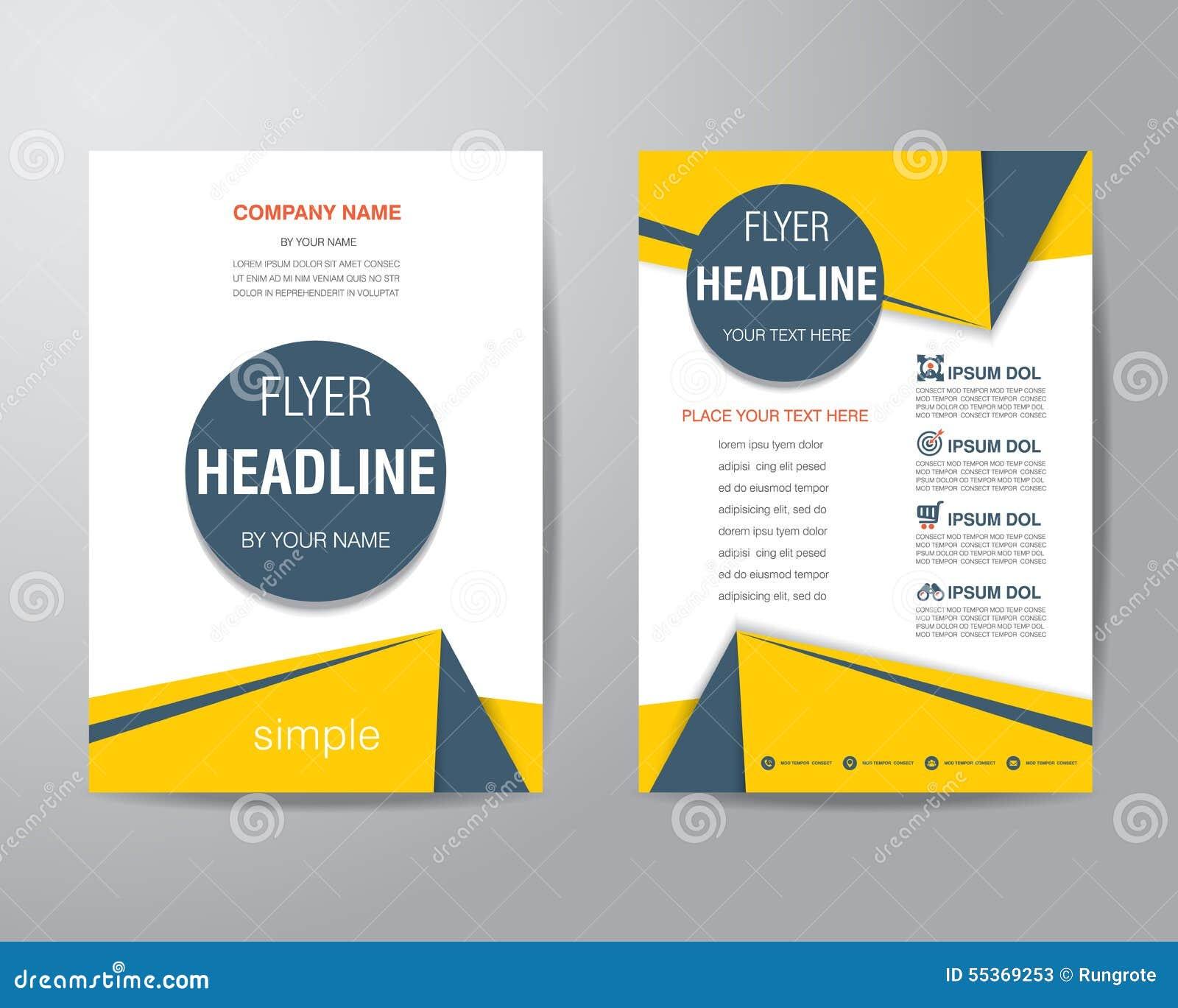 Prosty trójboka i okrąg broszurki ulotki projekta układu szablon