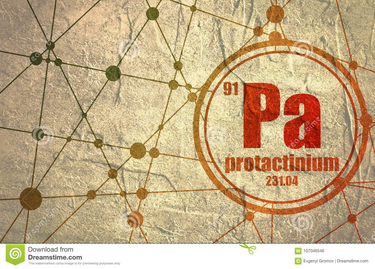protactinium chemical element protactinium chemical element sign atomic number atomic weight chemical element periodic 107046546 protactinium chemical element stock illustration illustration of