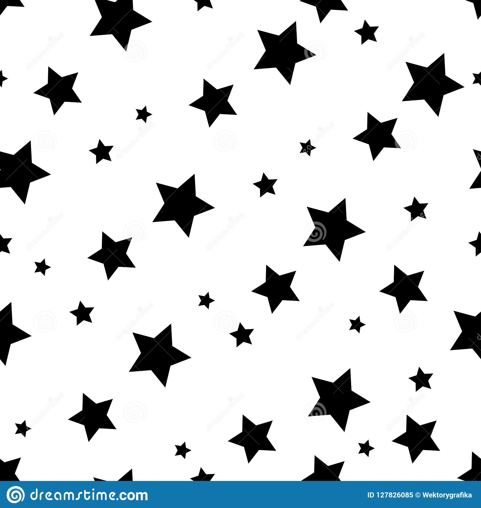 Protagonice el fondo inconsútil del modelo, diseño negro del papel pintado de la estrella