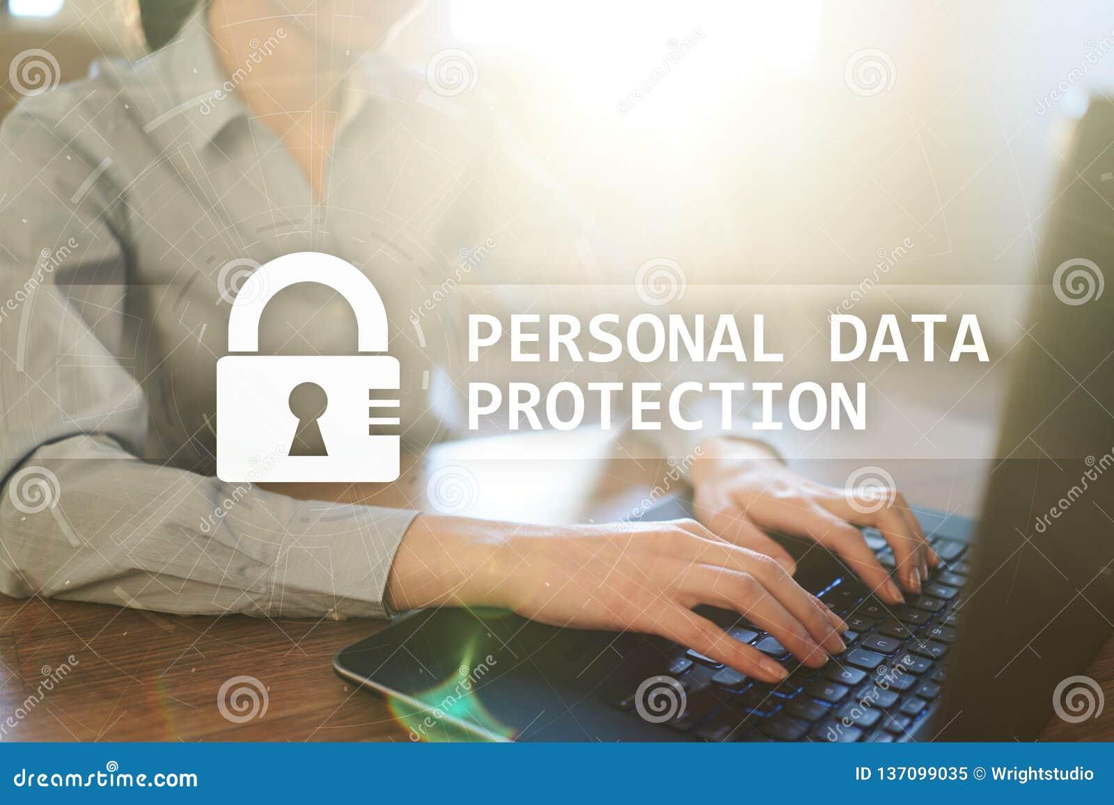 Proteção de dados, segurança do Cyber e privacidade pessoais da informação GDPR