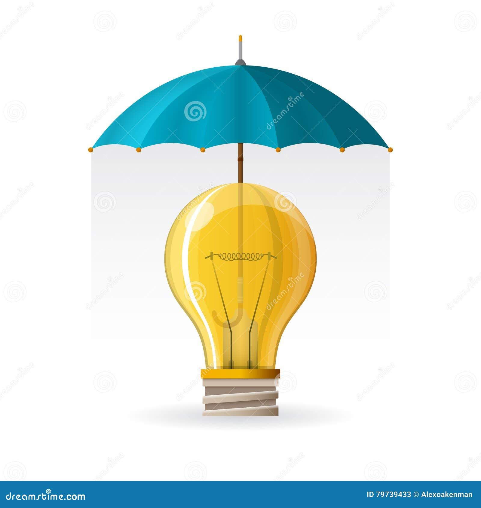 Protección del concepto de la propiedad intelectual en estilo plano