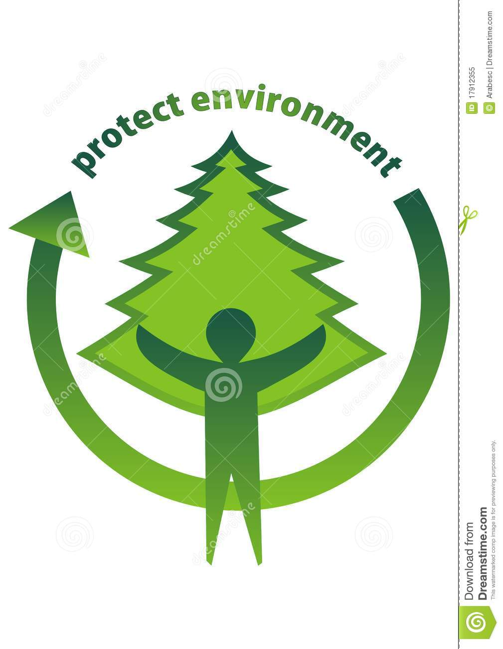 Protecting The African Woman By Blurring The Gender Lines: Protect The Environment Logo Stock Vector