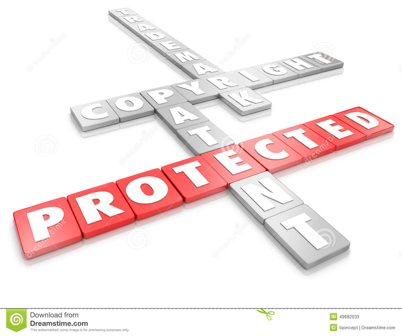 Intellectual Property Protection: Protected Intellectual Property Legal Copyright Trademark