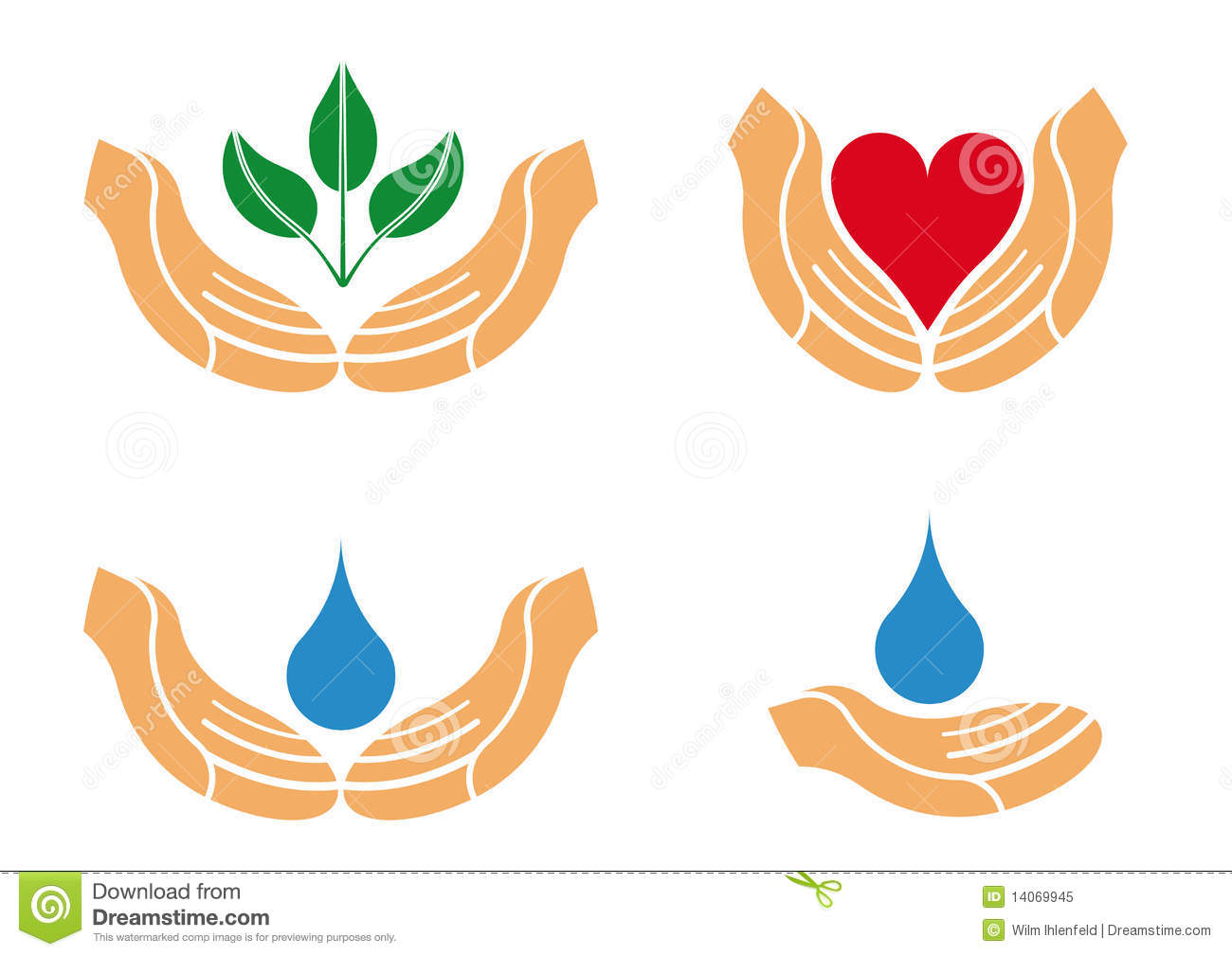 Protecting Hands Logo Royalty Free Stock Photo - Image ...