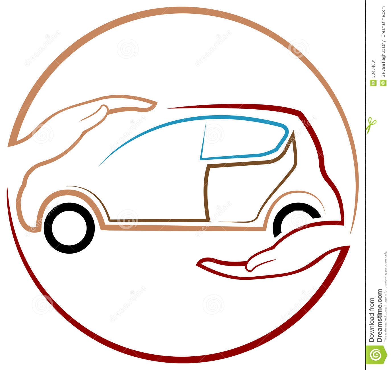 Protection Of Car Stock Vector Image 53434601