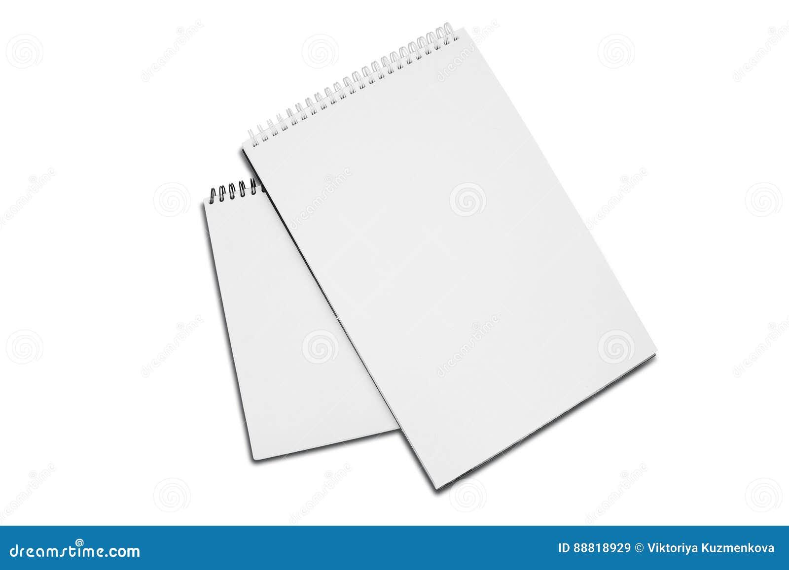 Protection de papier à spirale blanche en blanc du dessin deux avec l ombre