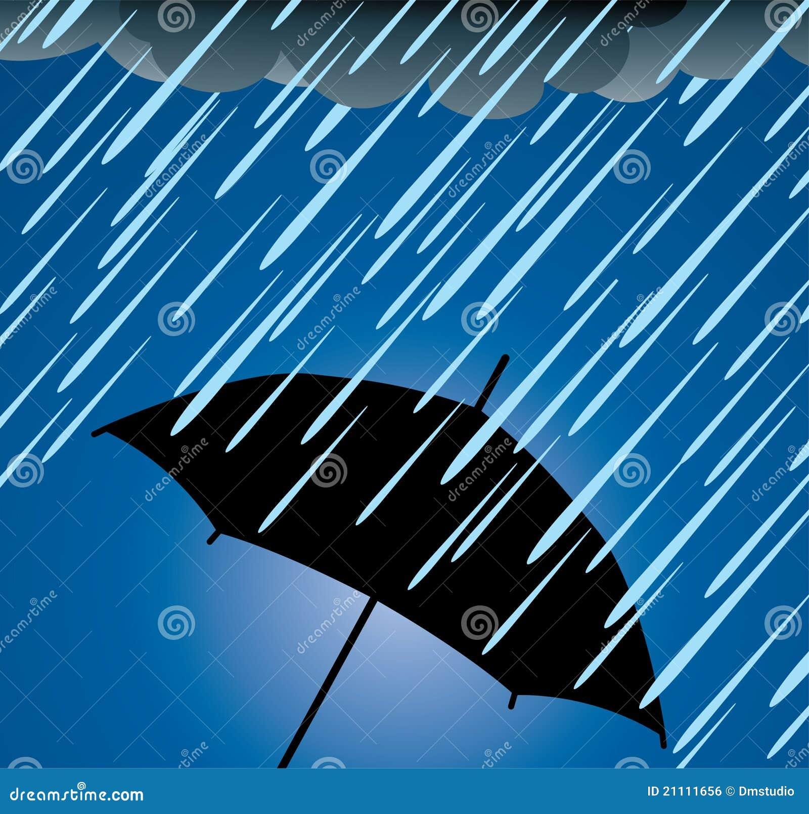 protection de parapluie contre la forte pluie illustration de vecteur illustration du lumi re. Black Bedroom Furniture Sets. Home Design Ideas