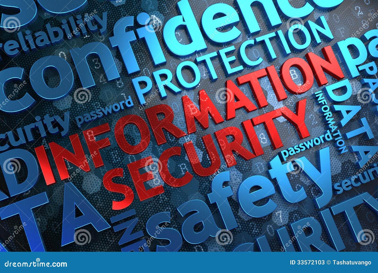 Protection des données.  Concept de Wordcloud.