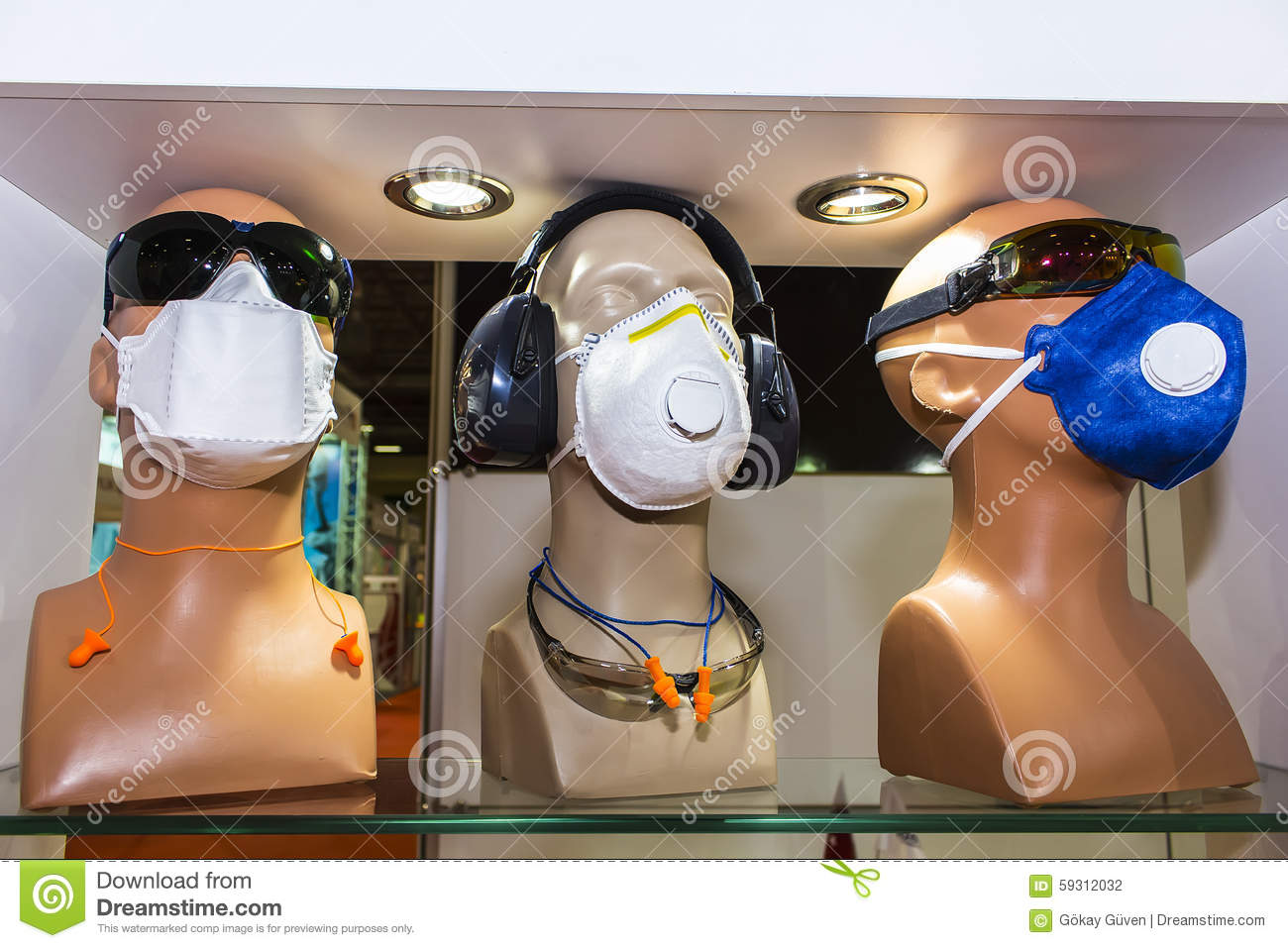 Protective Dust Mask stock photo  Image of dust, pollution - 59312032