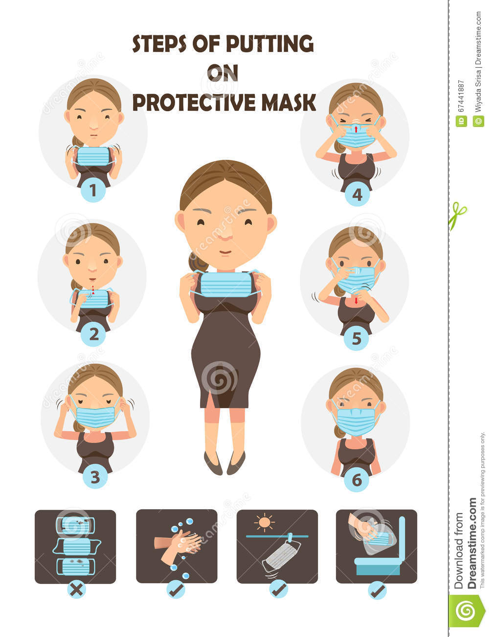 Stock 67441887 Vector Illustration Of Protective - Circle Mask