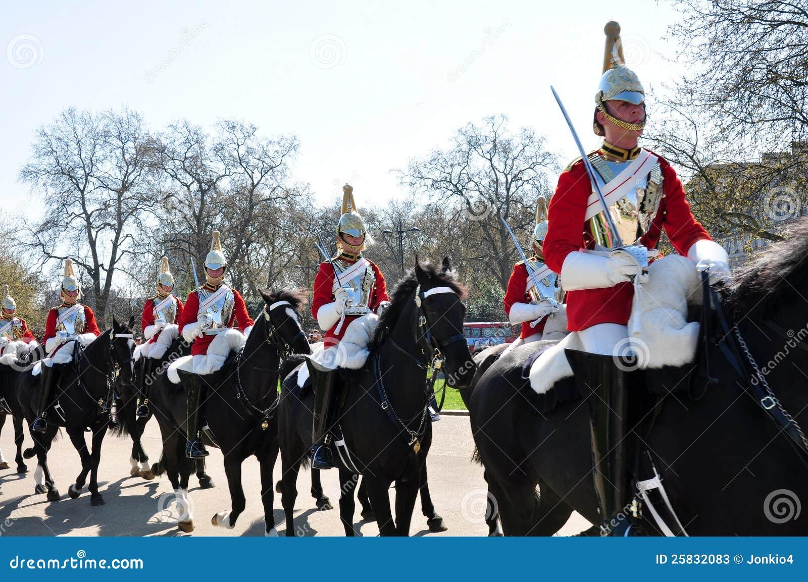Protectores de caballo reales, Inglaterra
