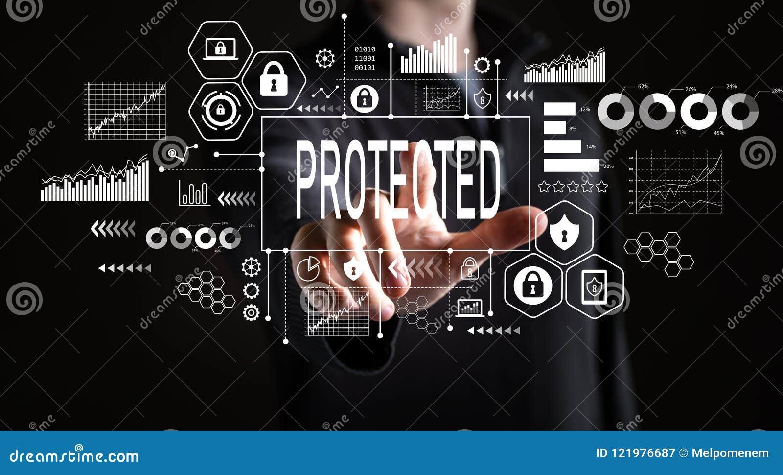 Protegido con el hombre de negocios