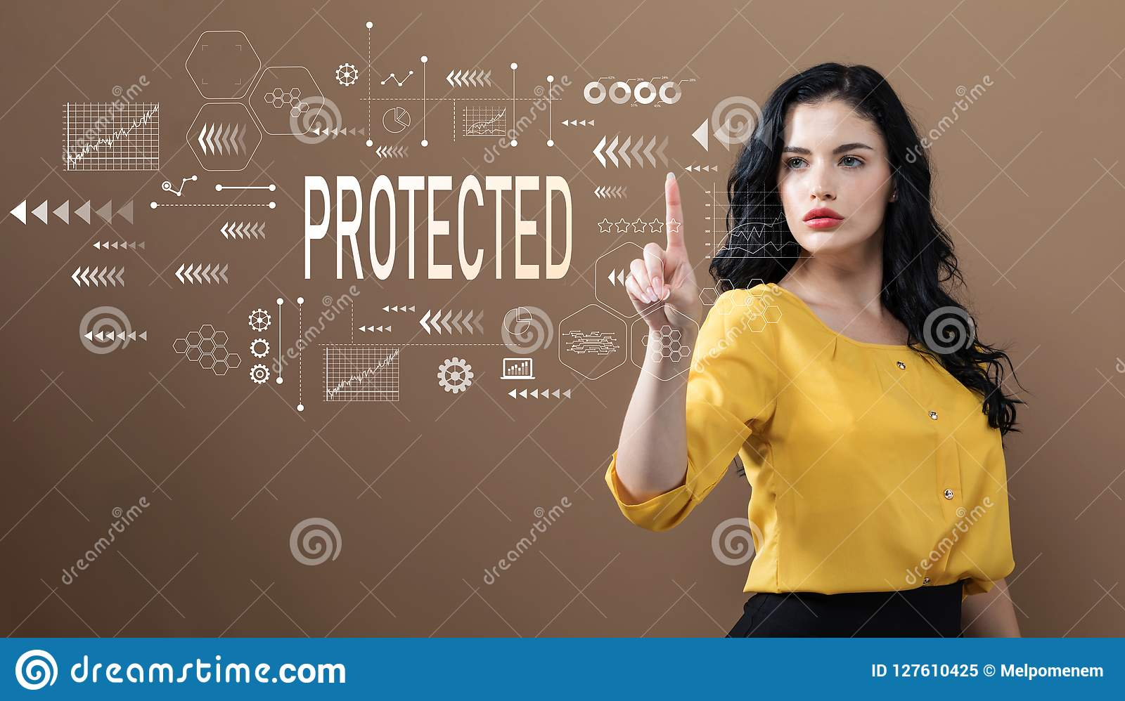 Protegido con la mujer de negocios
