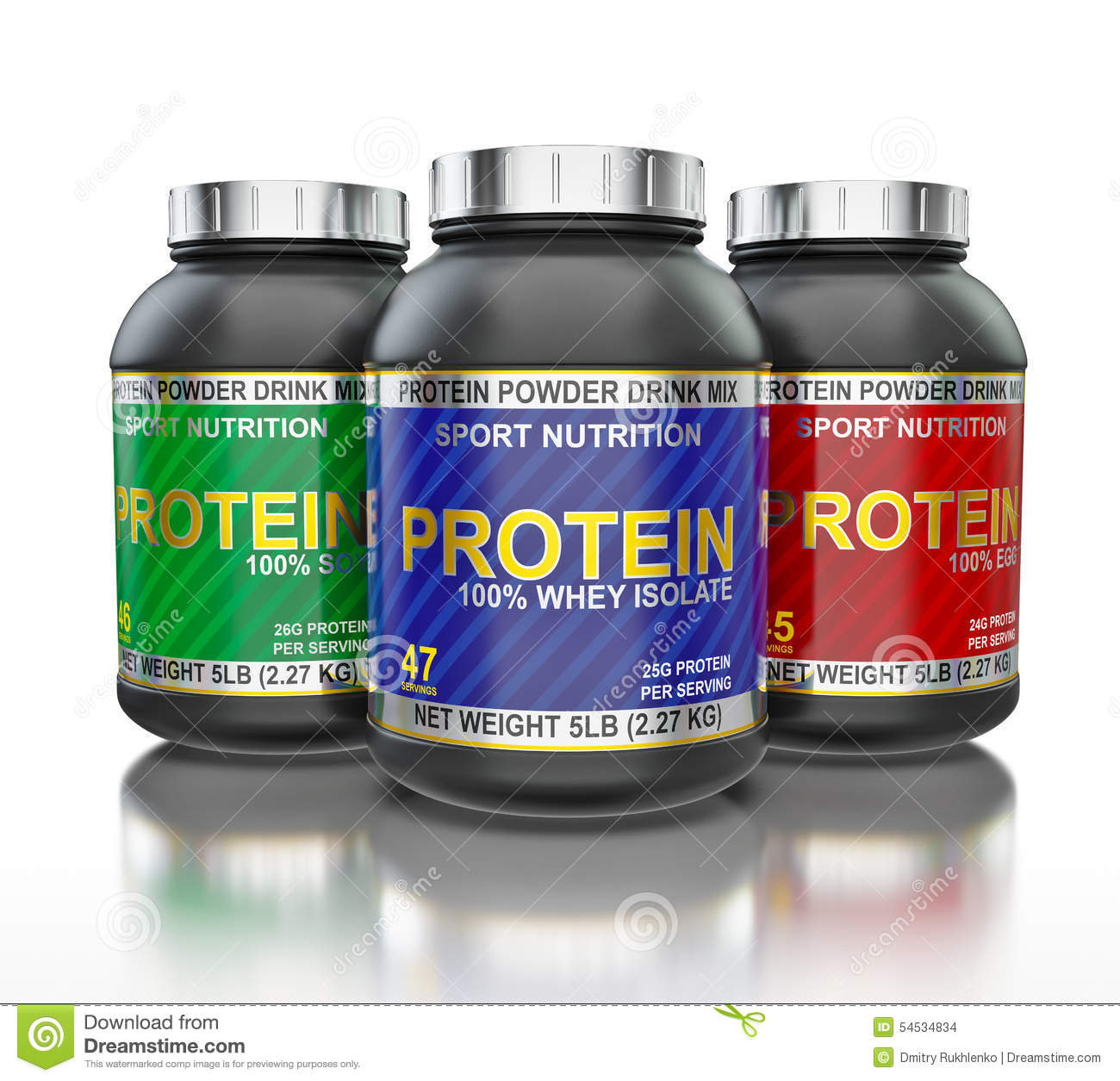 Protein Jars Isolated On White Background With Stock ...